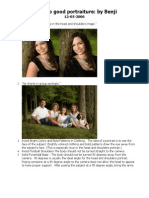 Rules of portraiture