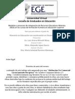 Modelos y procesos de integración de Recursos Educativos Abiertos (REA) en los cursos de formación humana en educación superior