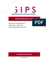 GIPS Guidance Statement on Fees