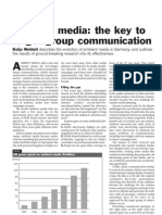 Ambient Media the Key to Target Group Communication