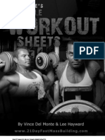 Part 7 - The Printable Workout Sheets and Training Log