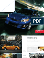 Brochure toyota  Matrix 2009