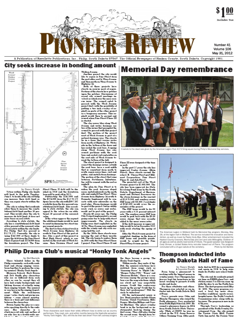 Pioneer Review, May 31, 2012 | Newspapers | Debt