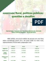 Juventude Rural, políticas públicas