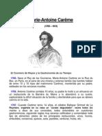 Marie Antoine Careme