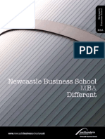 Newcastle Business School MBA Brochure