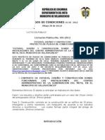 Proyectos - Pliegos de Condiciones Definitivos