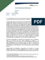 II PEP Finanzas Públicas.