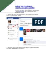 Cómo sincronizar tus eventos de Facebook con tu Google Calendar