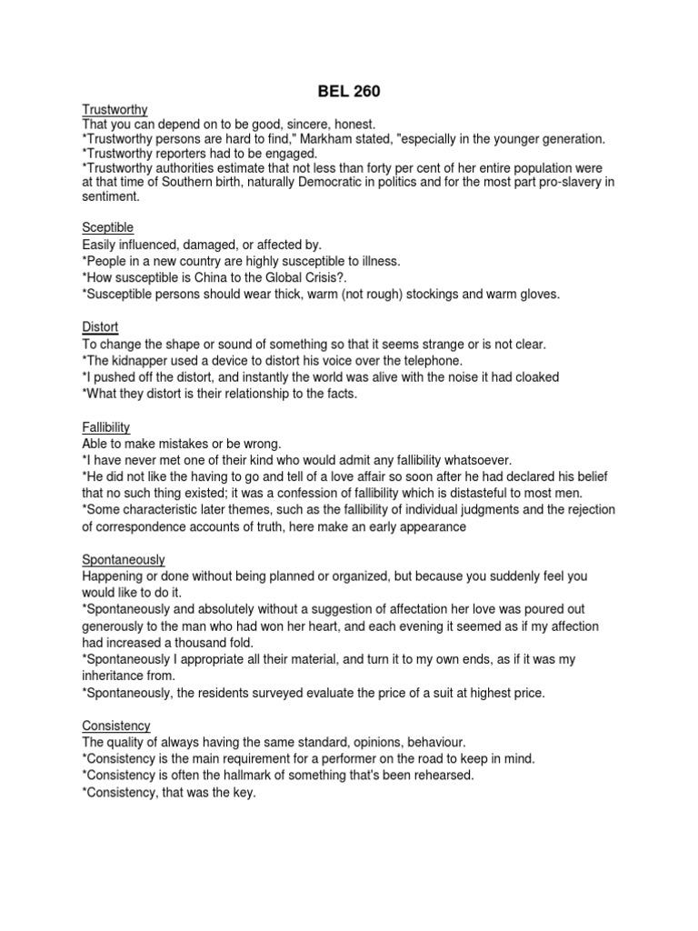 bel260 example essay