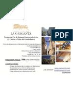 Paquete Gastroturistico Restaurante Complejo Turistico Rural La Garganta El Chorro Alora Malaga