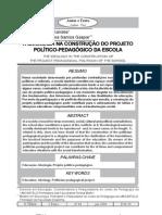 a ideologia do projeto-político pedagócio da escola- l. gaspar e t. fernandes
