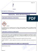 CREOLINA - MSDS