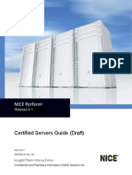 Certified Servers Guide for NICE Perform Release 4.1
