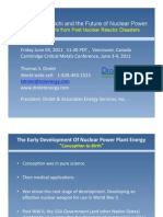 Fukushima Dai-Ichi and the Future of Nuclear Power Applied Lessons From Past Nuclear Reactor Disasters
