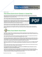 Texas Service Sector Outlook May 30 2012