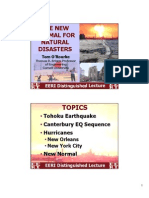 THE NEWNORMAL FORNATURALDISASTERS Tom O'RourkeThomas R. Briggs Professorof EngineeringCornell University