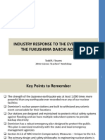 Industry Response to the Events Fromthe Fukushima Daiichi Accident