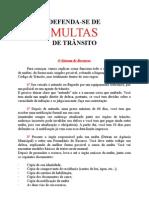 Manual de Recurso de Multas