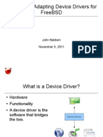 Writing and Adapting Device Drivers for FreeBSD