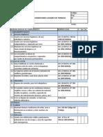 Check List Condiciones Lugares de Trabajo