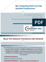 Transitional Jobs