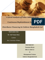 Internship Report on Unilever Bangladesh Limited
