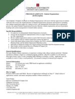 GA-PA Job Description - Student Org 2012