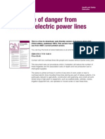 HSE GS6 Avoidance of Danger From Overhead Power Lines