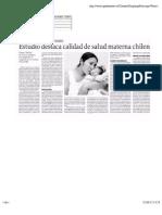 Estudio destaca calidad de salud materna chilena