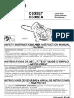 Hitachi Chain Saw Manual