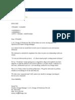 Client letter
