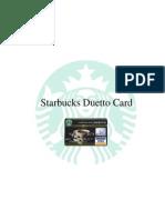 Starbucks Duetto Card