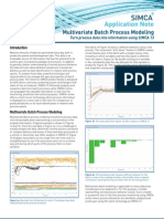 SIMCA 13 Multivariate Batch Process Modeling