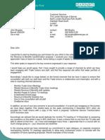Response to TU Feedback - Letter - BM 170512