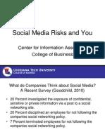 Social Media Risks