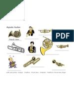 Fanfare Instrument Label Worksheet