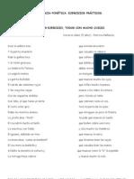 Conciencia fonética. ejercicios prácticos