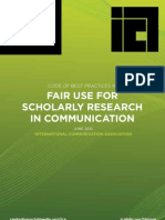 Fair Use Practices for Scholarly Communication