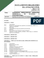 RBAC 121 - Requisitos Operacionais Operações Doméstica de Bandeira e Suplementares