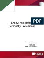 Ensayo Desarrollo Personal y Profesional