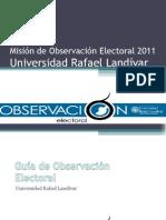 Cuaderno de Misión de Observación Electoral 2011