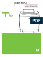 Hp Clj 2600 Manual Toc