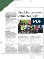 Fracking reserves