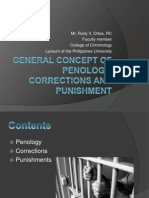 1 - General Concept of Penology, Corrections and Punishments