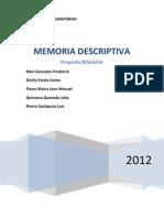 Memoria Descriptiva de Arquitectura San Felipe