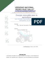 Fuentes de Energia y La Matriz Energetic A