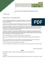 Anvisa - Legislação -  RDC n12-2001