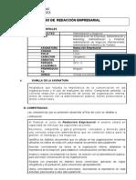 Nuevo Silabus de Redaccion Empresarial[1]