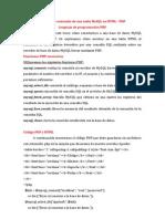 Mostrar El Contenido de Una Tabla MySQL en HTML
